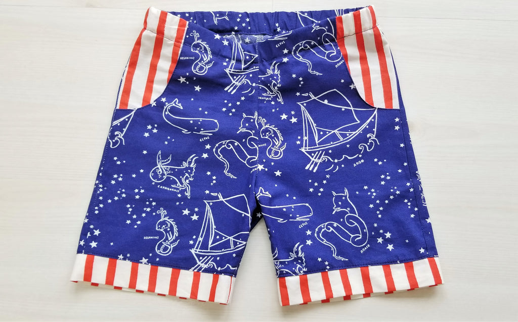 Organic Cotton Nautical Boy's Shorts
