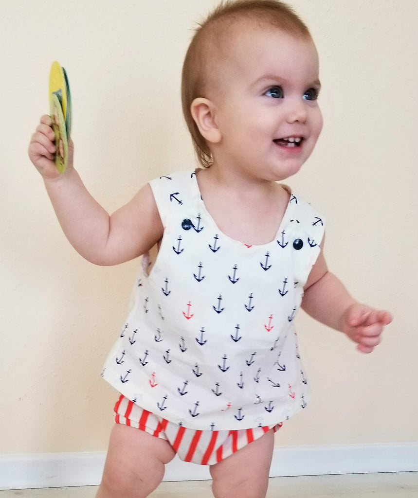 Nautical Organic Toddler Outfit