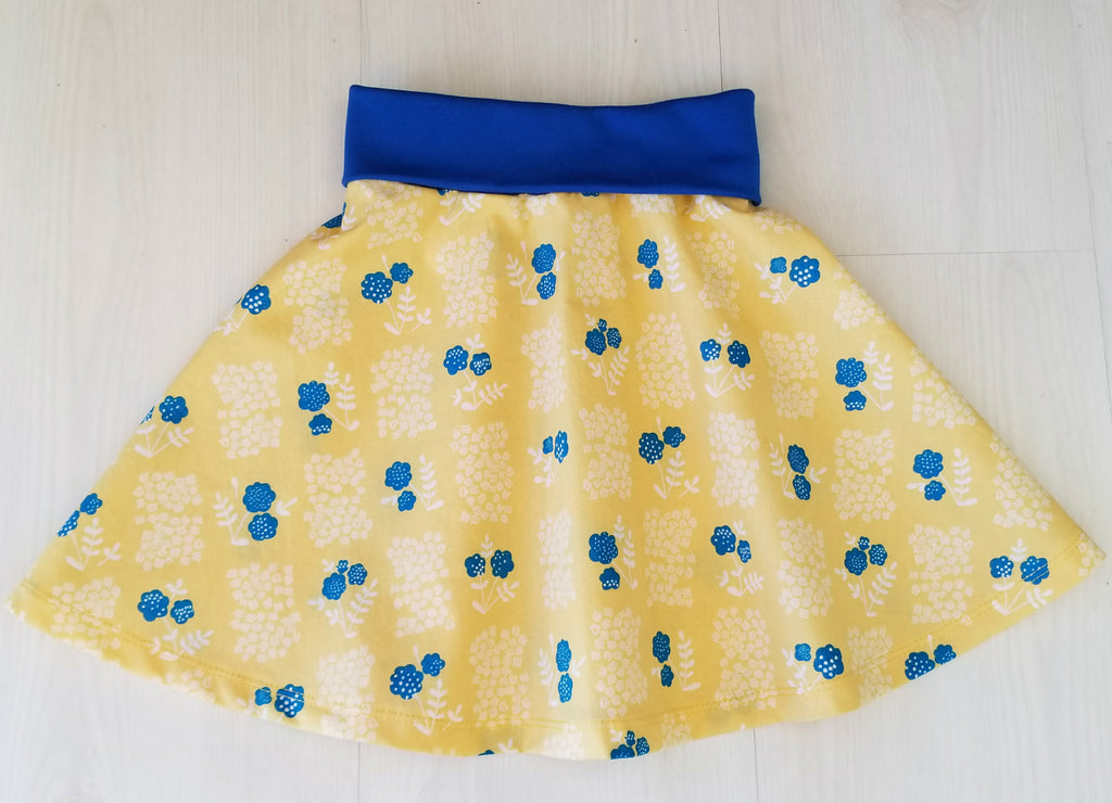 Organic Girl's & Toddler Skater Skirt in Floral Prints