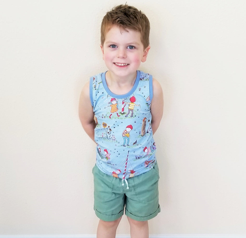 "Organic Children's Tank Top ""Save the Bees"" & ""Save the Oceans"""