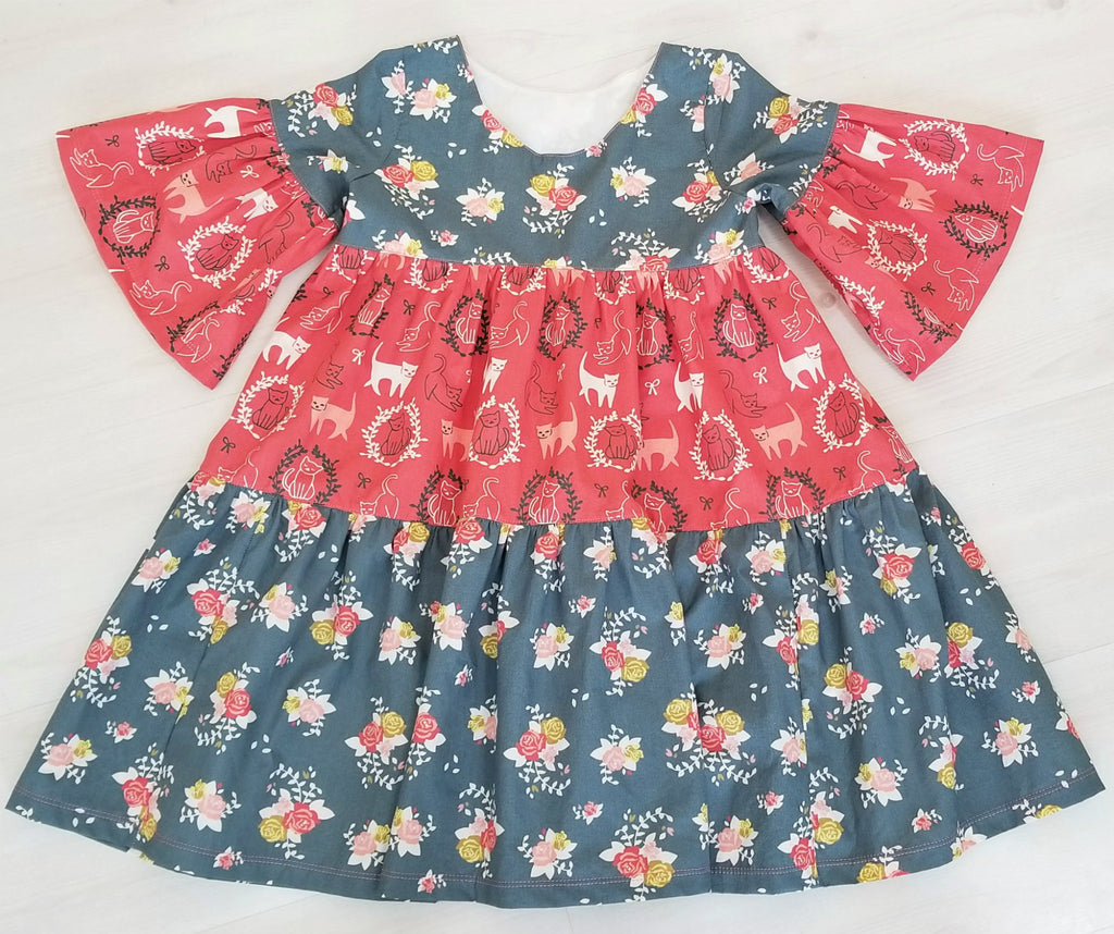 Organic Boho Floral Girl's & Toddler's Dress