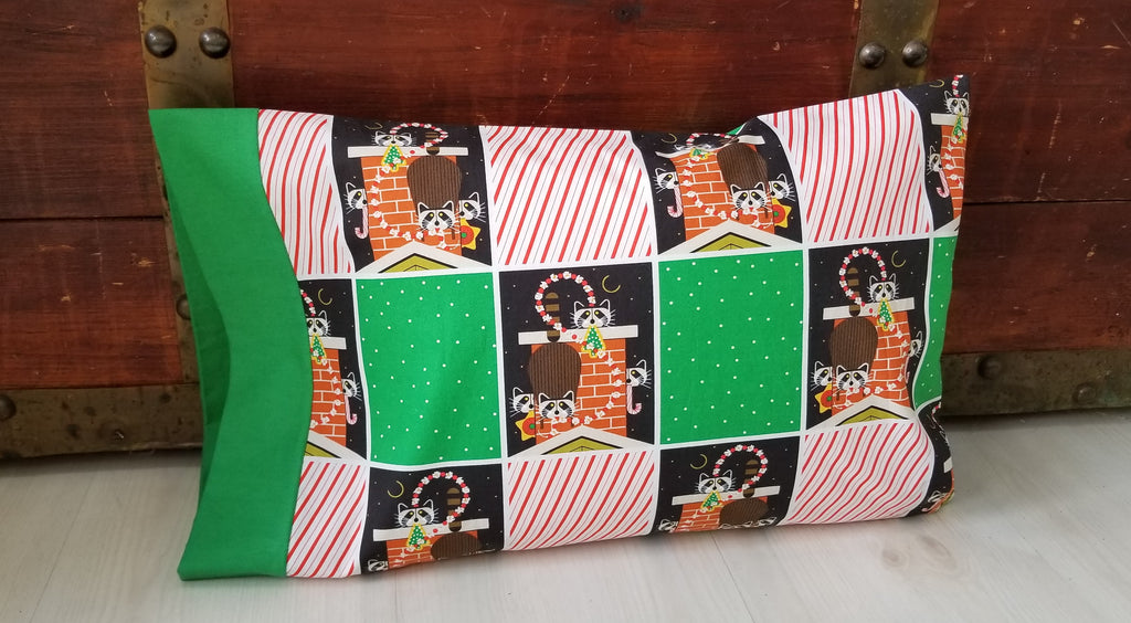 Organic Toddler Pillowcase - Organic Travel Pillowcase - Holiday Pillowcase
