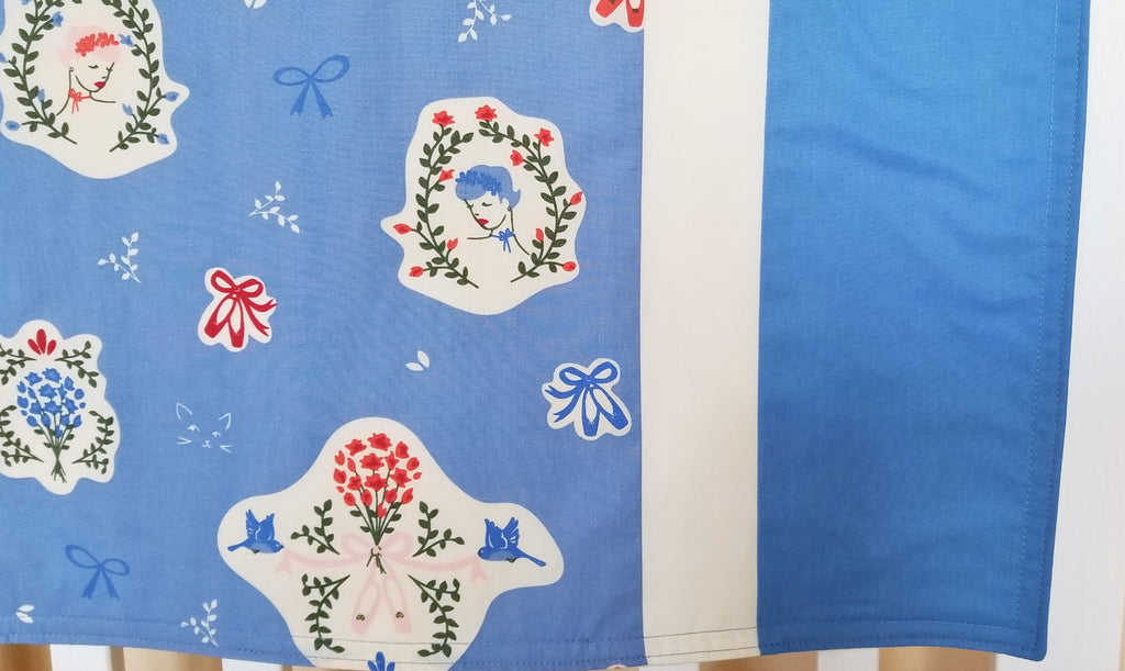 Ballerina's, Ballet Slippers, Cats & Flowers - Organic Cotton Baby Blanket