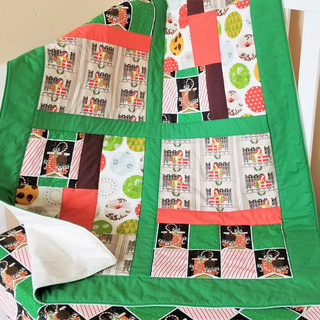 Organic Cotton Chrismas Baby & Toddler Quilt