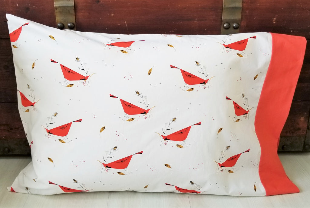 Organic  Pillowcase - Charley Harper- Holiday Pillowcase