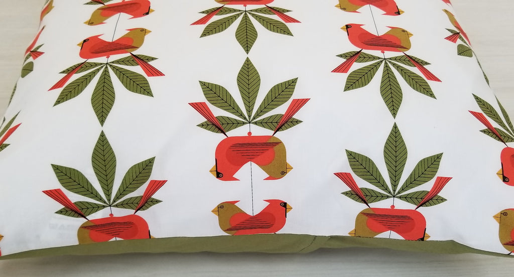 Holiday & Christmas Throw Pillow Covers in Assorted Cardinal Prints
