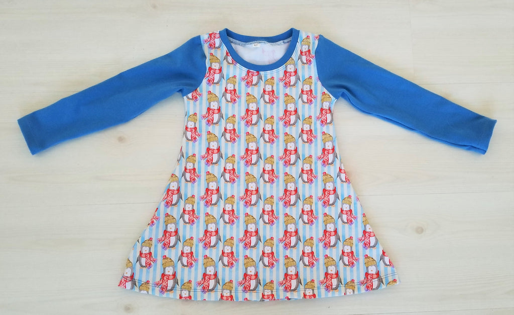 Girl's Tunic Organic - Organic Toddler Tunic  - Penguin Tunic