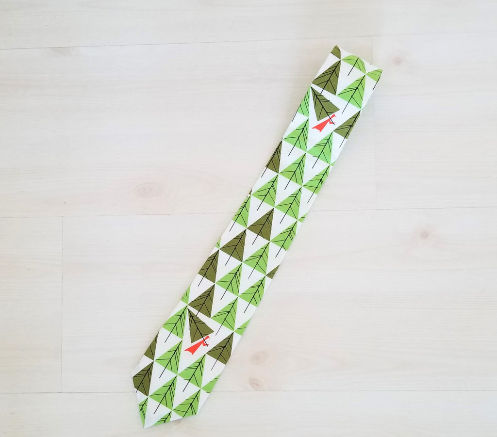 Organic Cotton Men's Tie - Holiday Tie - Charley Harper - Multiple Prints Available