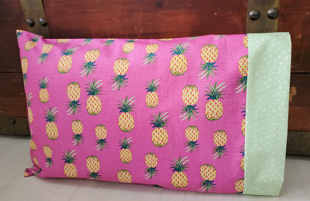 Organic Toddler and Travel Sized Pillowcases with Pineapples