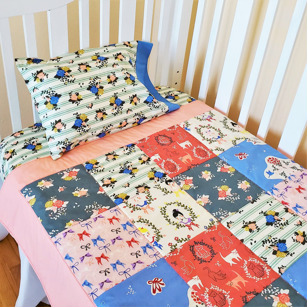 Organic Cotton Toddler & Travel Pillowcases in Ballet and Floral Prints