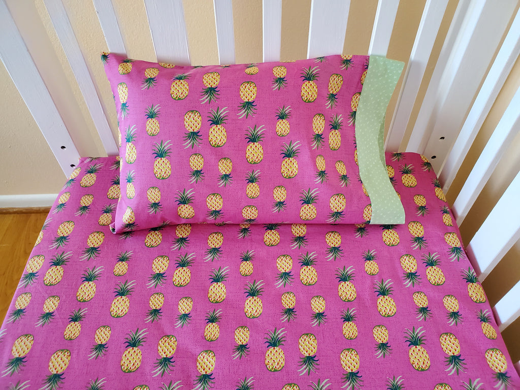 Organic Crib Bedding Set - Organic Toddler Bedding Set - Jungle Animals