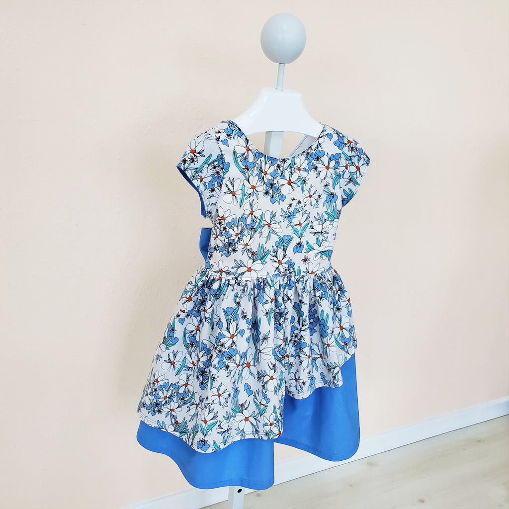 Organic Girl's Special Occasion Dress with A Bow