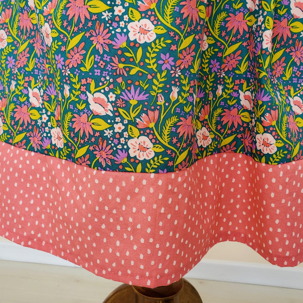 Organic Women's Skirts in Jewel Toned Floral Print