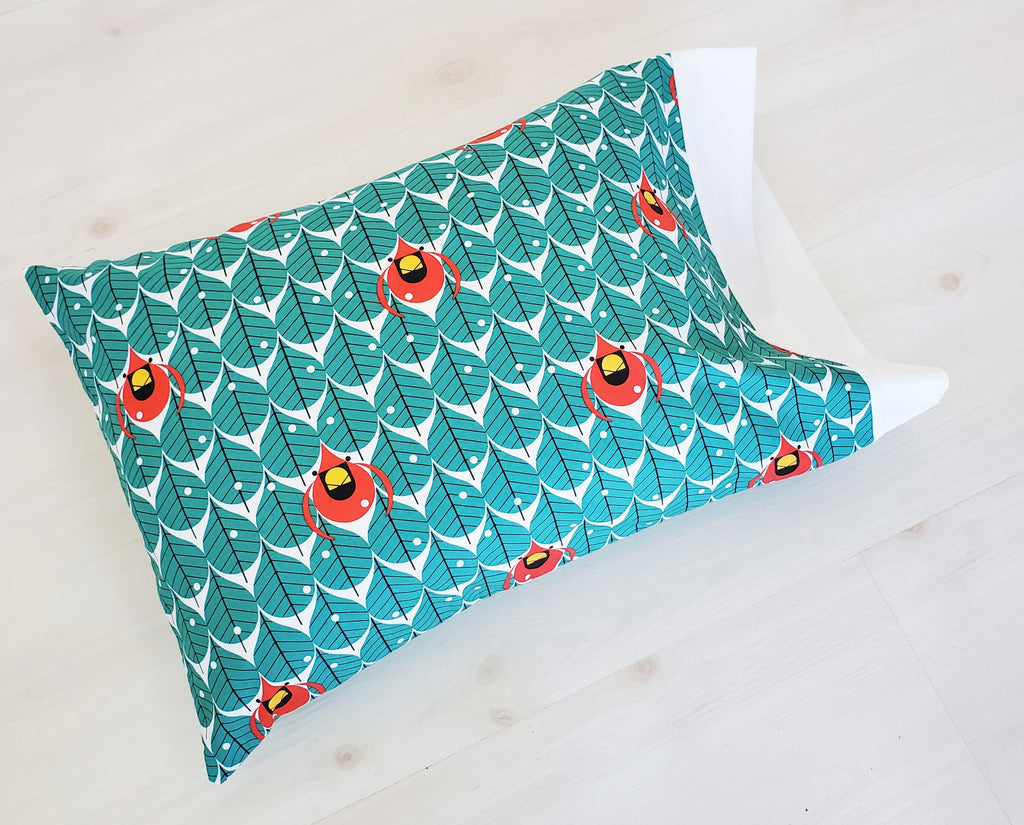 Charley Harper Holiday Pillowcases in Assorted Organic Cotton Prints