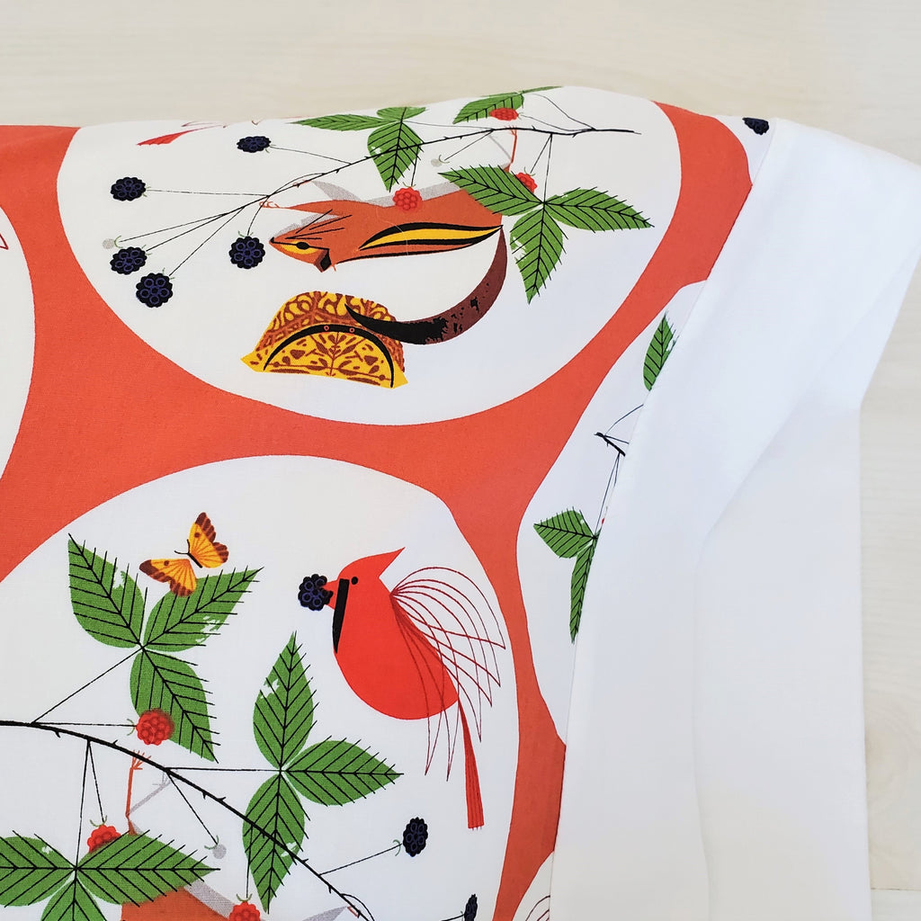 Organic Cotton Toddler Pillowcase in Charley Harper Holiday Prints