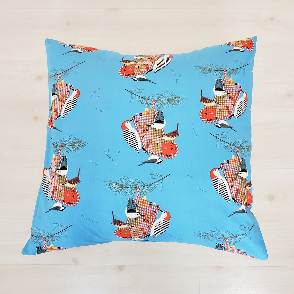 Organic Cotton Holiday Throw Pillow Covers in Charley Harper Prints
