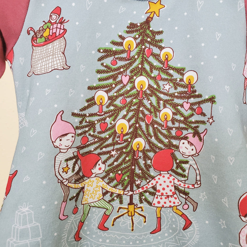 Christmas Tunic and Dress for Girls and Toddlers in Organic Cotton