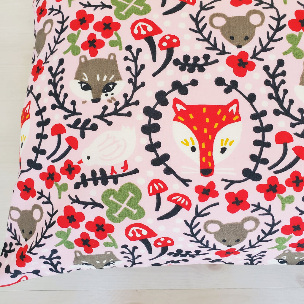 Organic Cotton Toddler and Travel Pillowcases in Assorted Folk Prints