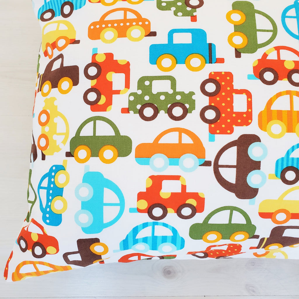 Car Toddler Pillowcase in Organic Cotton