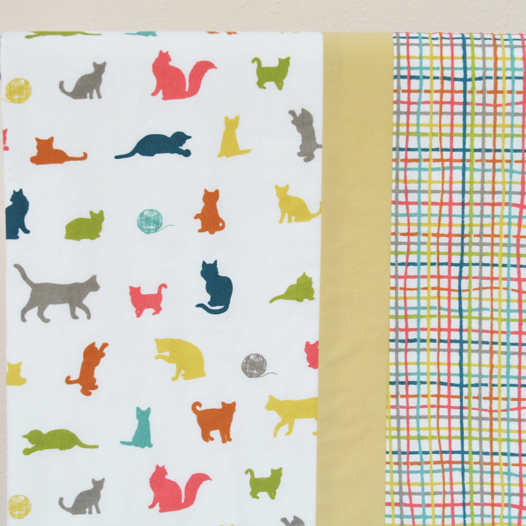 Organic Cotton Baby or Toddler Blanket with Cats