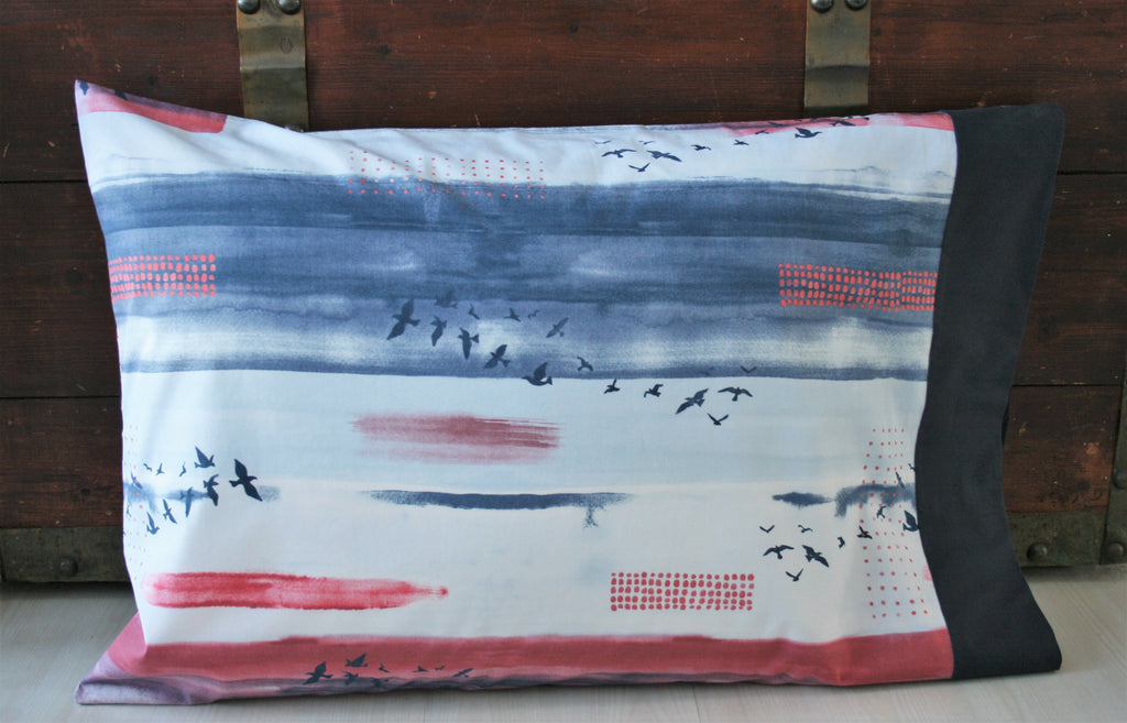Organic Standard Pillowcase - Wanderlust Collection - Wildflower Print