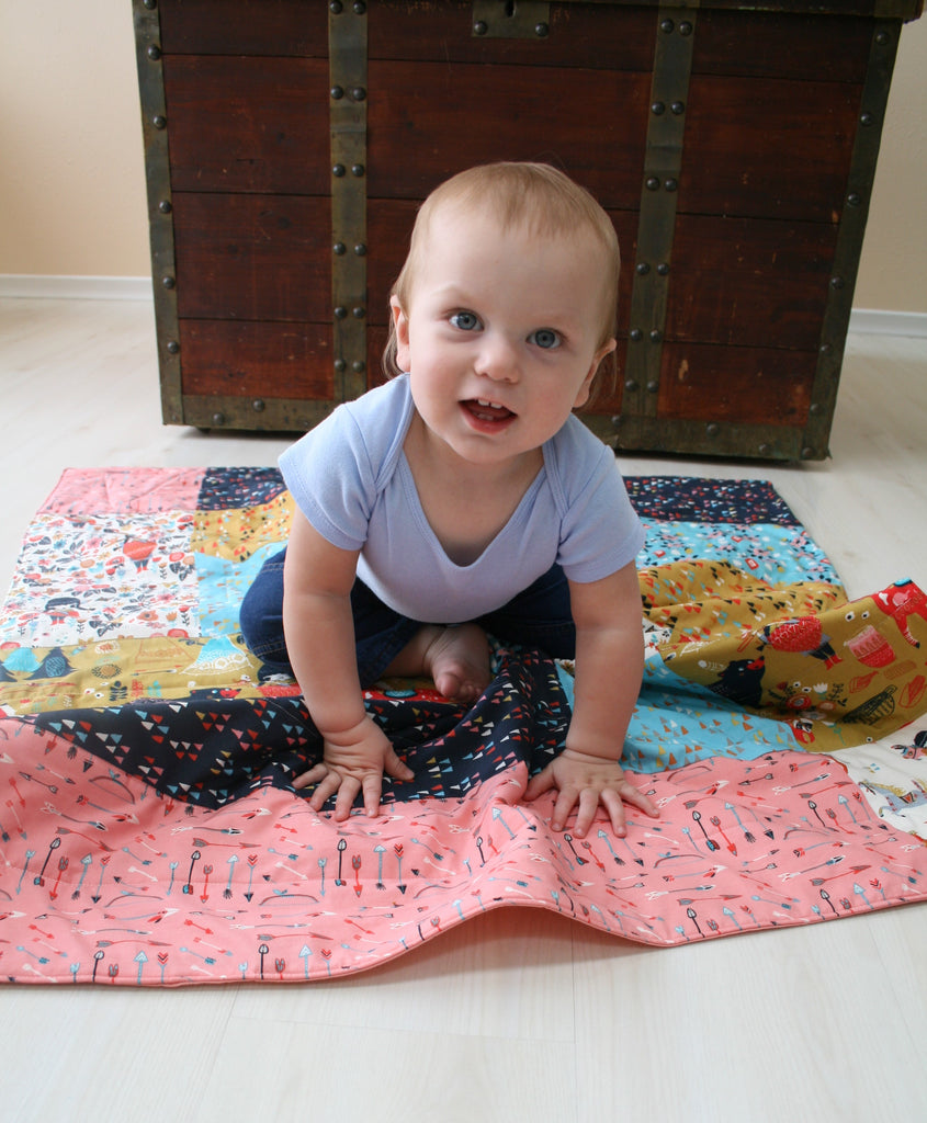 Organic Baby Quilt - Organic Toddler Quilt - Wildland Collection