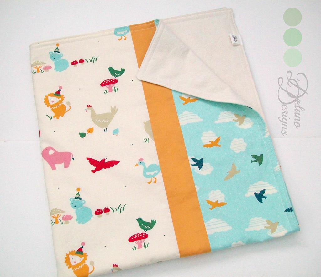 Organic Baby Blanket - Organic Recieving Blanket- It's My Party