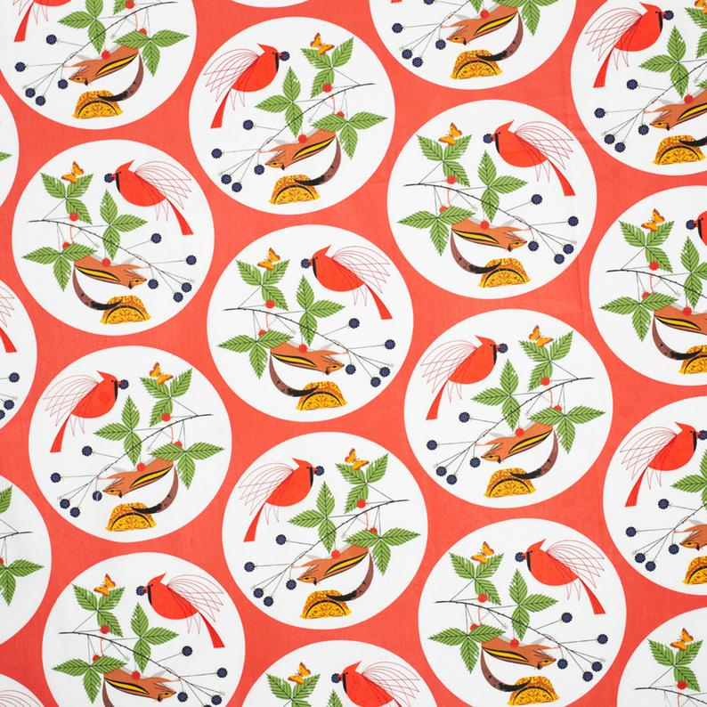 Charley Harper Holiday Pillowcase - Christmas Pillowcase Organic - Multiple Prints Available