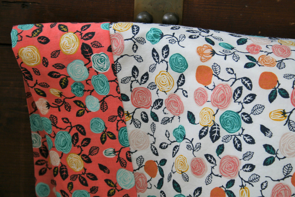 Organic Standard Pillowcase, Organic Pillowcase, Floral Pillowcase, Flowers, Hidden Garden, Organic Cotton Pillowcase, Custom Pillowcase