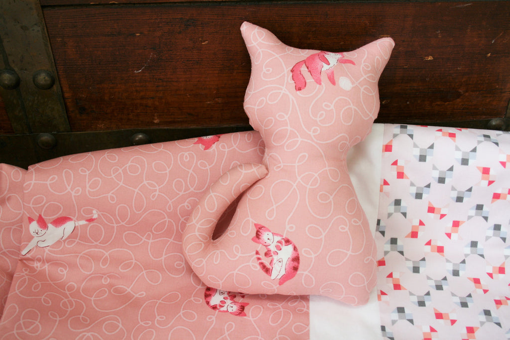 Organic Toddler Pillowcase, Girl, Organic Travel Pillowcase Kids, Pillow Case, Custom, Cats, Kitties, Kitten Pillowcase, Toddler Gift Girl