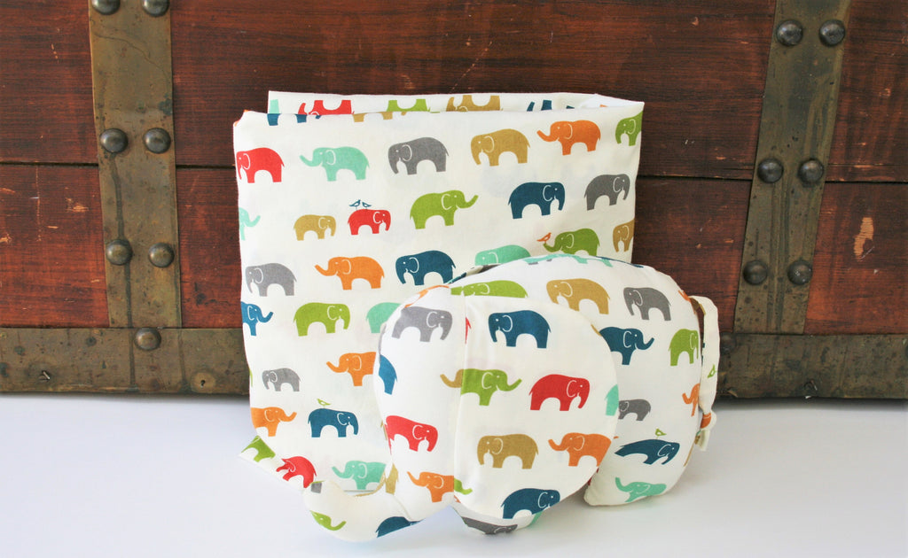 Organic Crib Sheet, Mini Co-Sleeper, Co-Sleeper, Pack n Play, Mini Crib, Fitted Crib Sheet, Elephants, Elephant Crib Sheet, Neutral