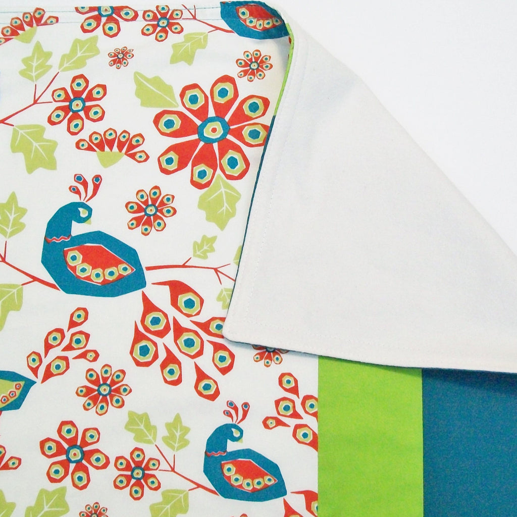 Peacock Baby & Toddler Blanket in Organic Cotton