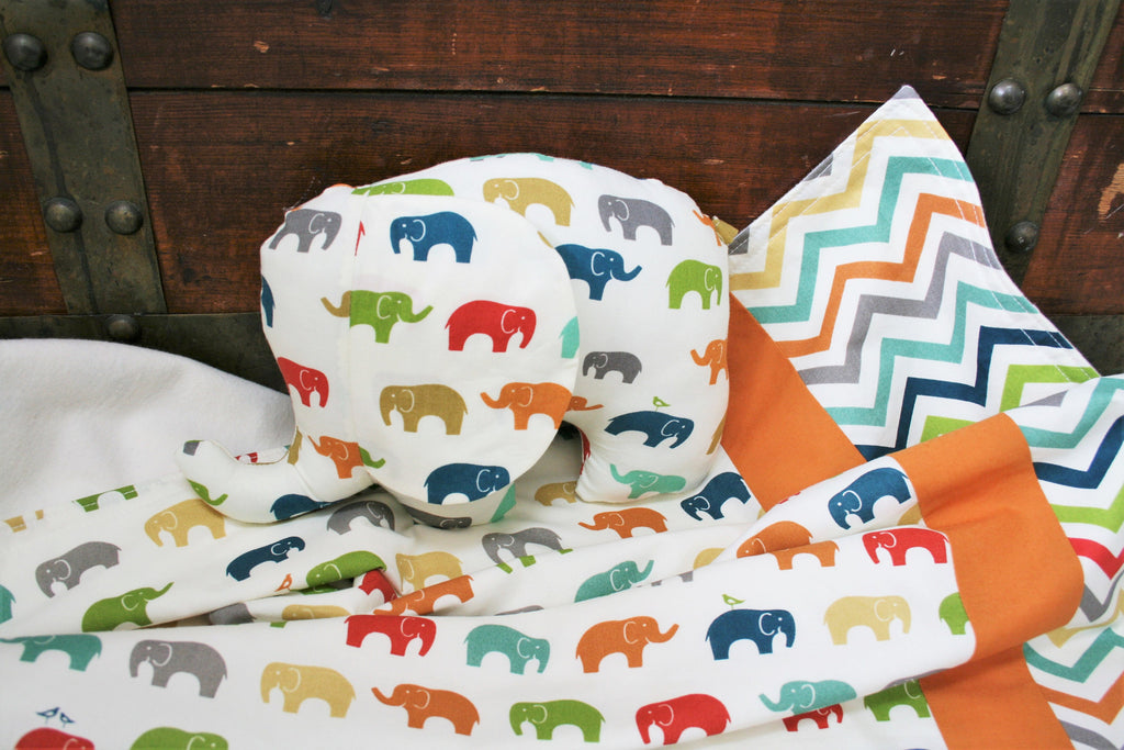 Organic Baby Blankets with Elephants