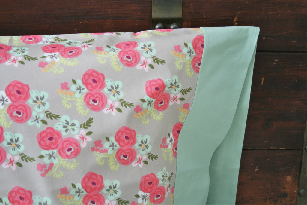 Organic Pillowcase - Organic Standard Pillowcase - Bloom - Floral