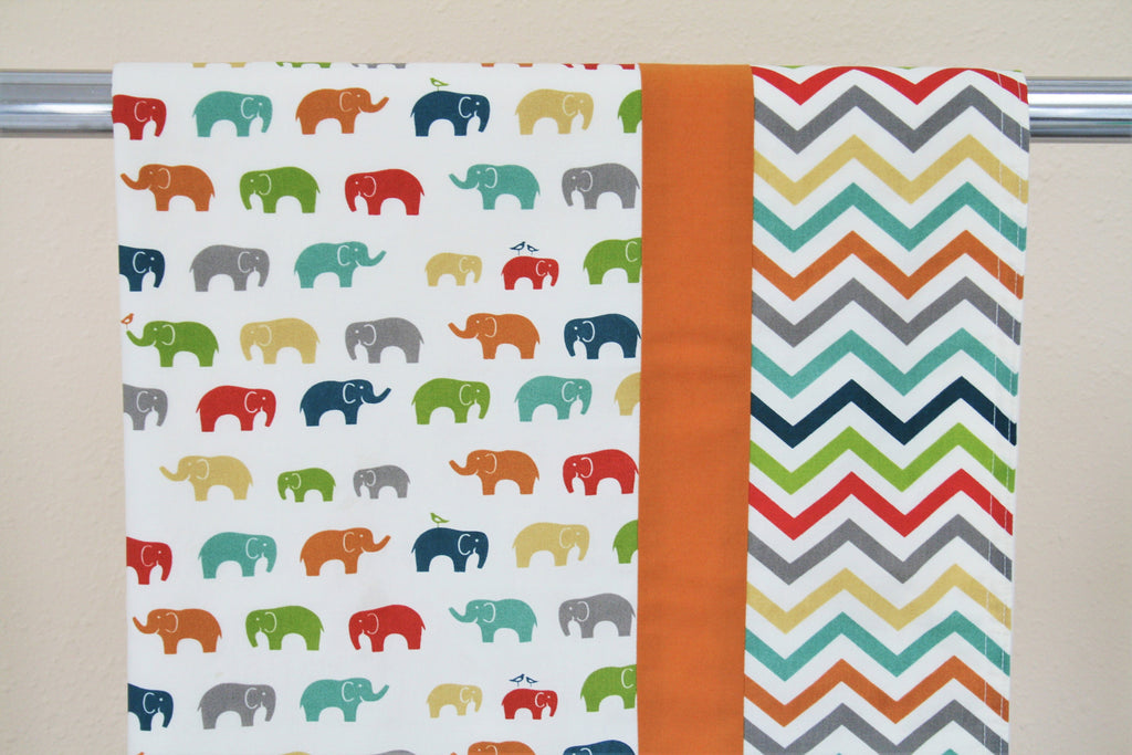 Organic Baby Blanket - Organic Toddler Blanket - Elephant in the Room (Bird)