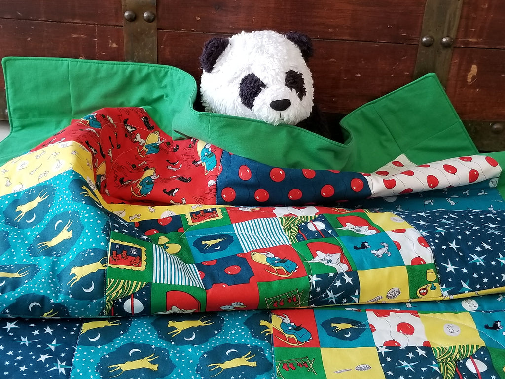 Organic Baby Quilt - Organic Toddler Quilt - Goodnight Moon