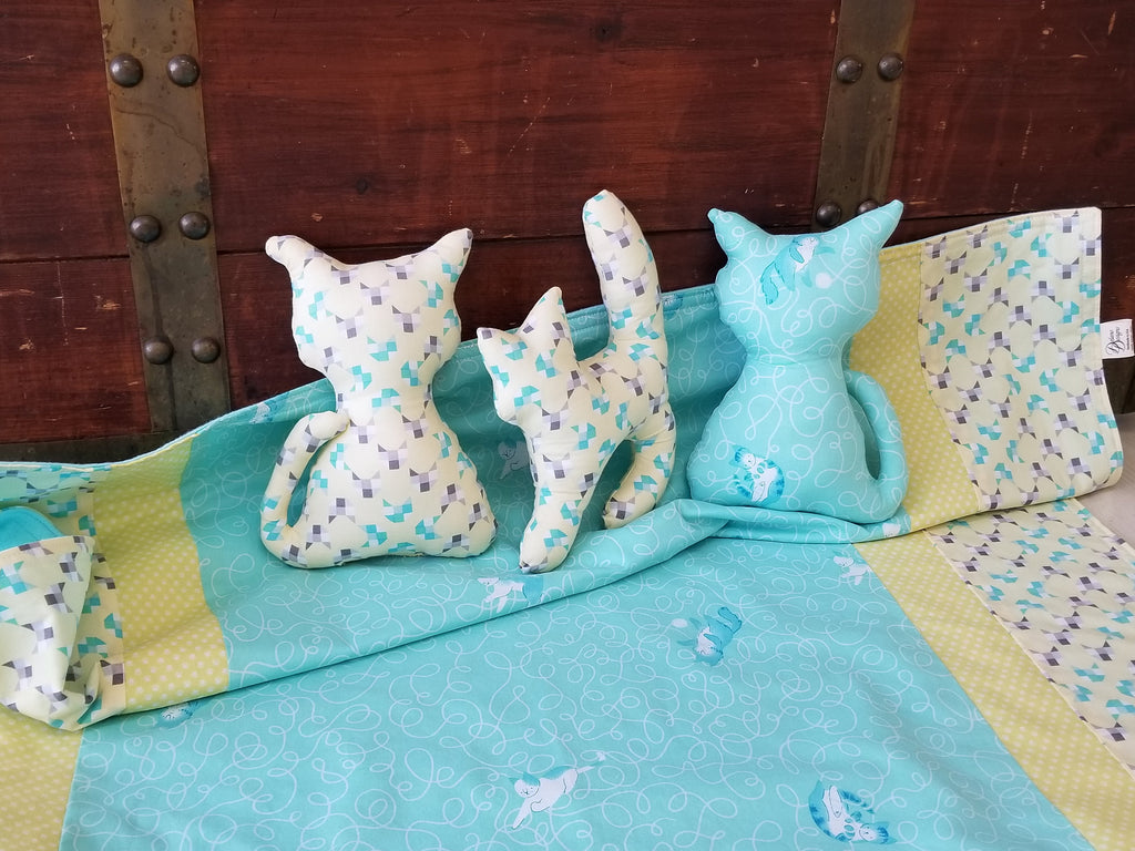 Organic Baby Blanket & Toddler Blanket with Cats