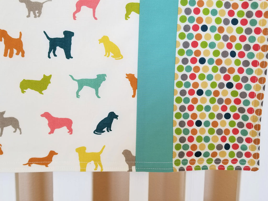Organic Cotton Baby Blanket & Toddler Blanket with Dogs