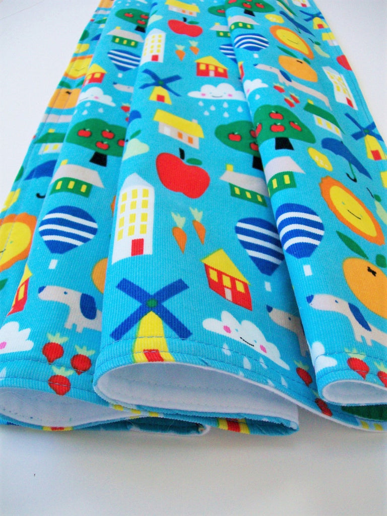 Organic Baby Blanket - Organic Toddler Blanket - Small World