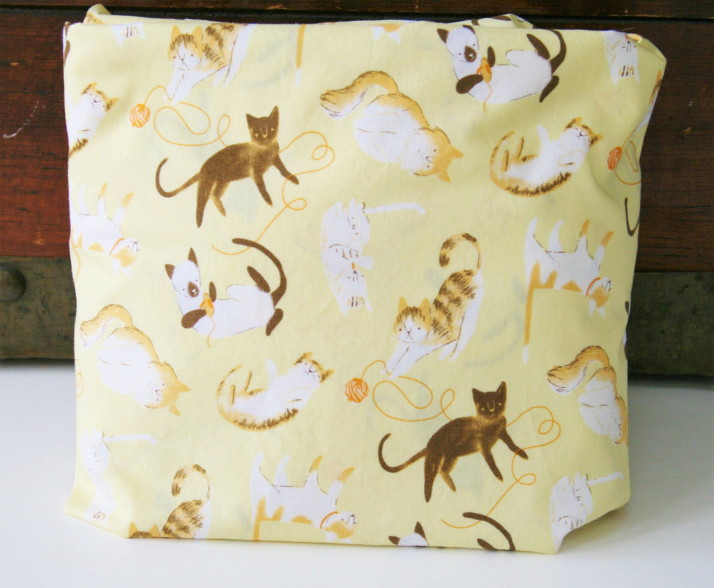 Organic Changing Pad Cover, Organic Contoured Changing Pad Cover, Kitties, Cats, Gender Neutral, Cattitude, Boy, Girl, Pink, Blue, Yellow