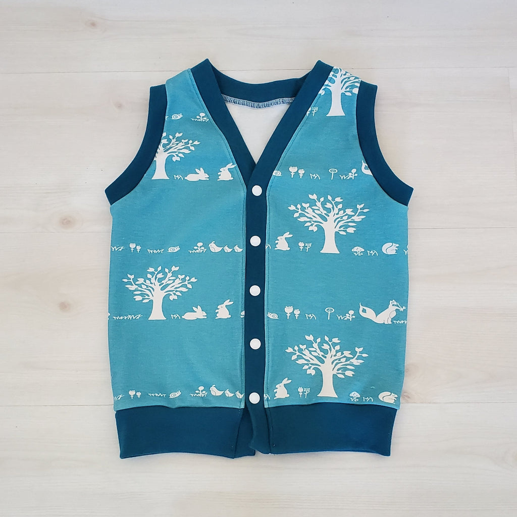 Organic Cotton Knit Woodland Boy's & Toddler's Vest