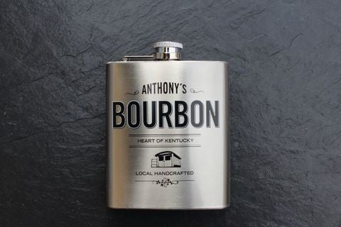 Anthony's Bourbon Flask,  Spirits - the garage winery
