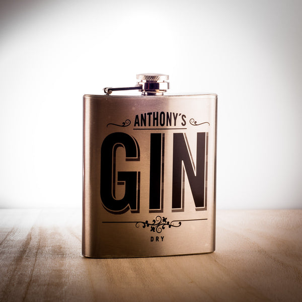 Anthony's Dry Gin Flask,  Spirits - the garage winery