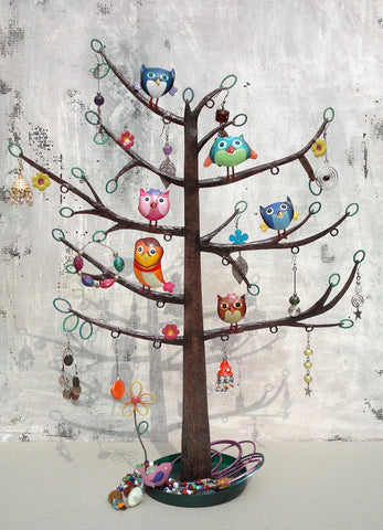 """Owl Tree"" Jewellery Organiser"