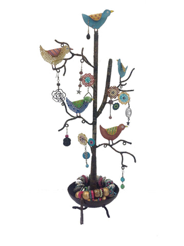 """Bird Tree with Bowl"" Jewellery Organiser"
