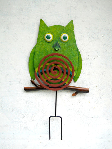 """Green Owl"" Coil Stand"