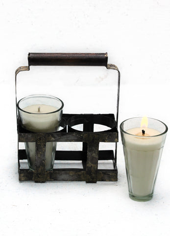 """Chai Caddy (2 Glass Candles)"""