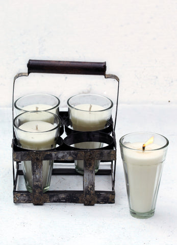 """Chai Caddy (4 Glass Candles)"""