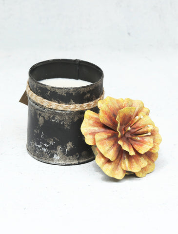 """Spice Tin With Hibiscus Lid Orange (Small)"""