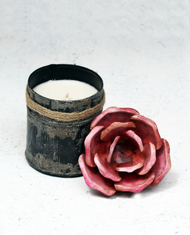 """Spice Tin With Rose Lid Pink (Small)"""